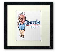 Bernie Sanders Cartoon Vintage Burnout Graphic Democratic Socialism Funny Feel The Bern Framed Print