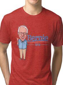 Bernie Sanders Cartoon Vintage Burnout Graphic Democratic Socialism Funny Feel The Bern Tri-blend T-Shirt