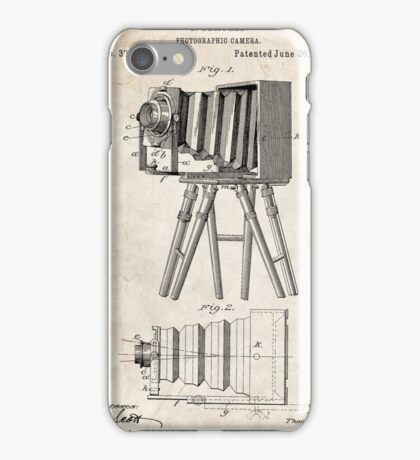 1885 Camera Invention Patent Art iPhone Case/Skin