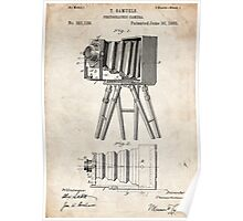 1885 Camera Invention Patent Art Poster