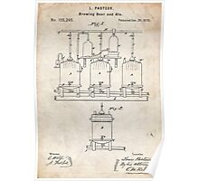 1873 Beer Brewing Invention Patent Art Poster