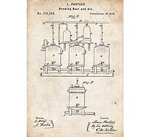1873 Beer Brewing Invention Patent Art Photographic Print