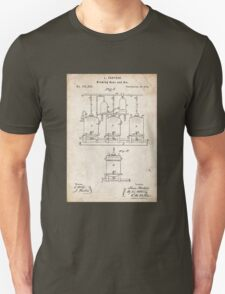 1873 Beer Brewing Invention Patent Art Unisex T-Shirt