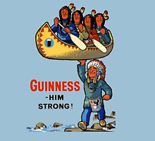 GUINNESS HIM STRONG VINTAGE ART Unisex T-Shirt