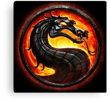 HOT & NEW! Mortal Kombat Fire Dragon Game Gamer Gaming Anime Cosplay Gift Canvas Print