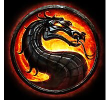 HOT & NEW! Mortal Kombat Fire Dragon Game Gamer Gaming Anime Cosplay Gift Photographic Print