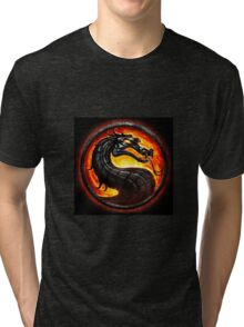 HOT & NEW! Mortal Kombat Fire Dragon Game Gamer Gaming Anime Cosplay Gift Tri-blend T-Shirt