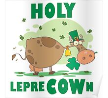 Irish St. Patrick's Day Funny Cow  Poster