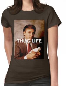 Throwback - Donald Trump Womens Fitted T-Shirt
