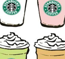 Starbucks Colorful Frappuccinos Sticker