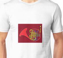 French horn Paint  Unisex T-Shirt