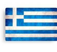 Greek Flag Canvas Print