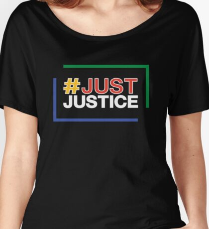 JustJustice - stacked on black Women's Relaxed Fit T-Shirt