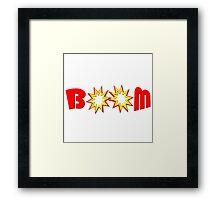 """BOOM"" typography Framed Print"