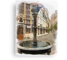 Fountain - Brussels, Belgium Canvas Print
