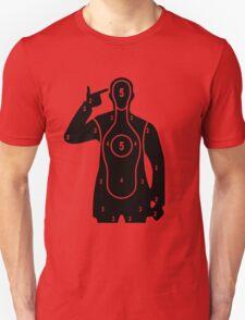 Finger Gun Target Unisex T-Shirt