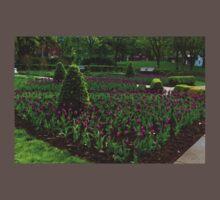 Royal Purple Tulips Baby Tee