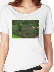 Royal Purple Tulips Women's Relaxed Fit T-Shirt