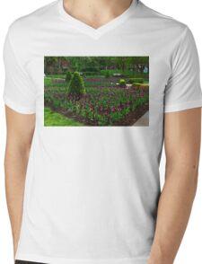 Royal Purple Tulips Mens V-Neck T-Shirt
