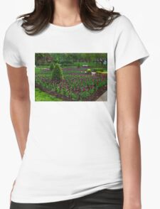 Royal Purple Tulips Womens Fitted T-Shirt