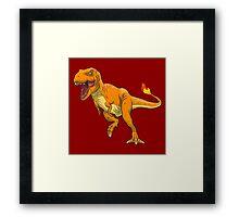 Charmander T-Rex Framed Print