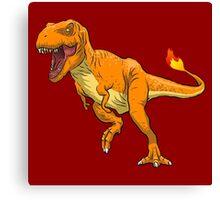 Charmander T-Rex Canvas Print