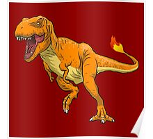 Charmander T-Rex Poster