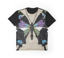 Paper Butterfly - Purple Spotted Swallowtail Graphic T-Shirt