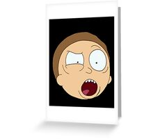 Angry Morty. Greeting Card