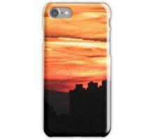Jersey City, New Jersey Sunset,  Viewed from Manhattan iPhone Case/Skin
