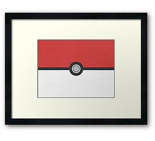 Pokemon Pokeball Minimalism Design Kanto Pikachu Framed Print