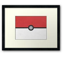 Pokemon Pokeball Minimalism Design Kanto Pikachu Framed Print