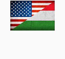 Half Hungarian Half American Flag Unisex T-Shirt