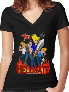 Hell Gate Women's Fitted V-Neck T-Shirt