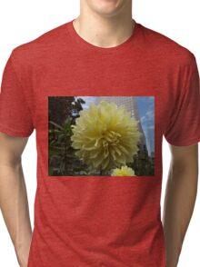Flower Close-Up, Liberty Community Garden, Lower Manhattan, New York City Tri-blend T-Shirt