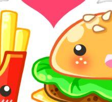 BFF Hamburger & Fries Sticker
