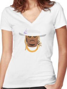 FUTURE HENDRIX Women's Fitted V-Neck T-Shirt