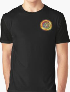 Colorful Sacred Geometry Colorful Mandala Buddha Buddhist Artwork (1) Graphic T-Shirt