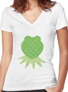 Scrapbook Kermit Women's Fitted V-Neck T-Shirt