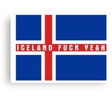 Iceland Flag Shirt Canvas Print