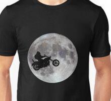 Big foot, big bike and a big bright moon Unisex T-Shirt