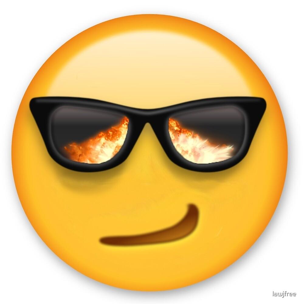"""Emoji Likes Fire"" by Jack Free Designs"
