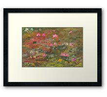 Water Lily Magic Framed Print