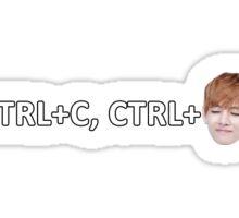 Control C, Control V BTS Sticker