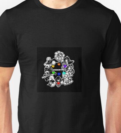 Undertale Sans Flowey Papyrus Undyne Etc Circle Game Gamer Gaming Gift Unisex T-Shirt