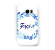 Forgive Watercolor Brush Lettering Blue Samsung Galaxy Case/Skin