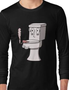 Post Toilet Stress Disorder - No Text Long Sleeve T-Shirt