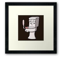 Post Toilet Stress Disorder - No Text Framed Print