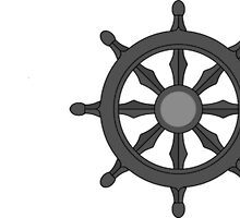Lotus Flower, Dharma Wheel, and Endless Knot by jwdolgos