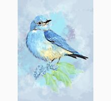 Watercolor Bluebird Blue Bird Art Unisex T-Shirt